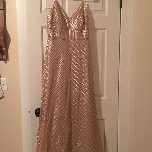 Gold Sequin Prom dress Weddington Way Florence